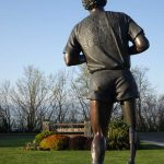 Terry Fox statue at Mile Zero. Photography by Adele J. Haft, adelehaft@gmail.com